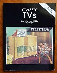 CLASSIC TVS Pre-War-1950s Price Guide & Identification BOOK Scott Wood