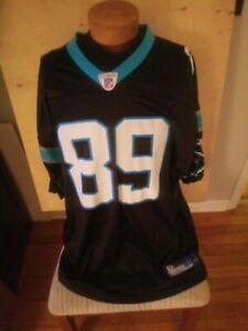 Steve Smith #89 Carolina Panthers NFL Reebok Black 2XL Football Jersey