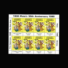 Dominica, Sc #0694a, Mnh, 1981, S/S, Disney, Pluto's 50th, Di325F