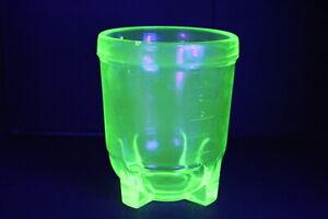 Vintage Green URANIUM GLASS Measure / Mixer