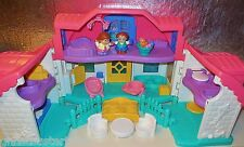FISHER PRICE LITTLE PEOPLE SWEET SOUND DOLLHOUSE VILLAGE FAMILY HOUSE HOME LOT