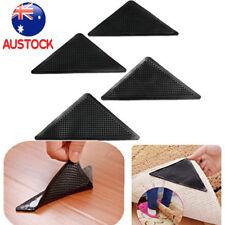 4pcs Anti-skid Rubber Floor Washable Carpet Mat Rug Gripper Stopper Tape Sticker