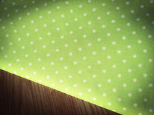 Shabby White Spots on Light Green 100% Cotton Fabric. Price per 1/2 meter