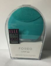 New/Sealed- Foreo- Luna Mini- T- Sonic Face Brush - Turquoise Blue-100%Authentic