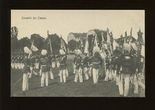 Germany Sammeln der Fahnen Collecting the Flags military parade c1900/10s? PPC