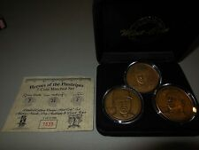 3 highland mint coin set  mickey mantle -don mattingly-d. jeter