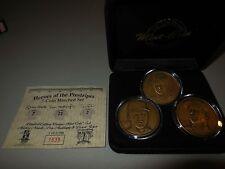 3 highland mint coin set  mickey mantle -don mattingly-d. jeter