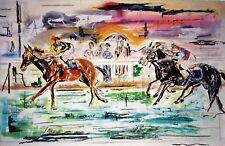 Douard III by (Horses) Arnaud Courlet de Vregille. Canvas Pets Art. 11x17 Print