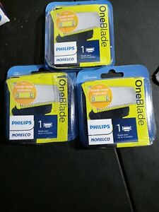 Norelco Philips OneBlade QP2520/780 Replacement Blades Lot Of 3