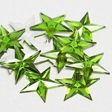 Apple Green Flat Back Star Rhinestones | 24 Packages