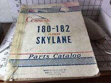 Cessna 180-182 and Skylane Series Parts Catalog Vintage Original 1959 Used