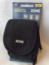 Lens Case Black Camera Padded Water Resistant Pocket Zip NWT Zone small Strap