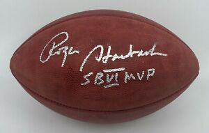 "Roger Staubach "" SB VI MVP "" Signed Full Size Football BAS WITNESSED COA Cowboys"