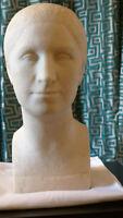 Skulptur Frauenkopf von Maria Weber, signiert, aus den 30er Jahren, exzellenter