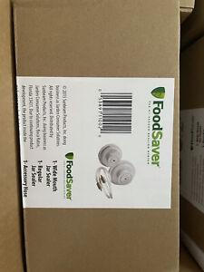FoodSaver Regular+Wide-Mouth Jar Sealer Kit and Accessory Hose White-Fast Ship!!