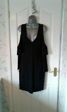 BNWT GORGEOUS SEXY BLACK CUT OUT SHOULDER DRESS FROM FRENCH CONNECTION SIZE 10