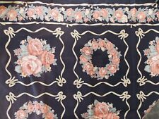 Fabric Retro Vintage Flower Floral Bow Wreath Country Folk Weilwood Quilting