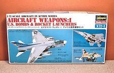 1/72 HASEGAWA AIRCRAFT WEAPONS I US BOMBS & ROCKET LAUNCHERS MODEL KIT # X72-001