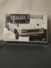 Nichimo 1/24 Skyline 2000 GTR 1971 1972 Nissan KPGC 10 Kit Modelo Nuevo Sellado