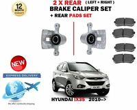 FOR HYUNDAI IX35 1.6 1.7 2.0 CRDI 2010-> 2X REAR LEFT RIGHT BRAKE CALIPER + PADS