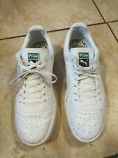 0a099c4335a2 Used Puma Men s Leather Sneakers Athletic Tennis Shoe White Green Size 12