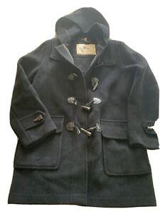 Burberry Black Wool Duffle Coat Medium 10