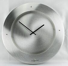 New! Rare, Modern Silver Open Dial Quartz Wall Clock By Nextime-2174AL