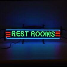 """New Rest Rooms Toilet Restrooms Beer Man Cave Neon Light Sign 17""""x6"""""""