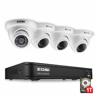 ZOSI 8CH 1080N HDMI DVR 1TB Outdoor Day Night CCTV Security Camera System