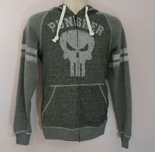 Marvel Punisher Logo Charcoal Black Small S Mens Long Sleeve Hooded Jacket New