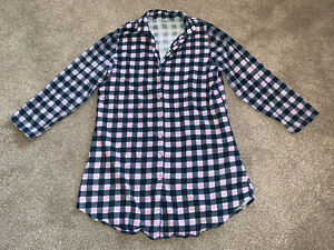 Ladies Pink Heart Longline Checked Shirt - Size 12-14