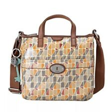 Fossil Calypso Key Per Coated Canvas Cross body Handbag shoulder bag