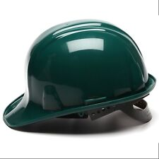 Pyramex Hard Hat Cap Style Green with 6 Point Snap Lock Suspension