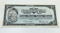 1974 Canadian Tire 3 Three Cents CTC-S4-A-AN Uncirculated Money Banknote D131