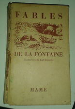 Fables de la Fontaine. ill. de Karl Girardet. Mame. 1953