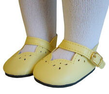 Doll Clothes fits American Girl Yellow Scalloped Dress Shoes