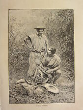 c1890 ANTIQUE PRINT ~ MOJOS INDIANS