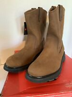 "Wolverine Men's Size 13 M Brown Leather 10"" Wellington Slip Res. Work Boots NWT"