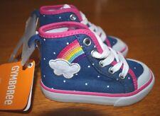 Gymboree 9 Rainbow Sneakers Hi-Top Tennis Shoes Cloud Dot Toddler Girl NWT