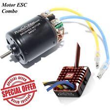 Powerhobby 540 55T Brushed Motor + Hobbywing WP1080 ESC FOR Rock Crawler SCX1...