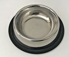 Pet Food/Water Bowl/Dish-Small Cat/Dog-Anti-skid/Rubber/Stainless steel-8 Oz