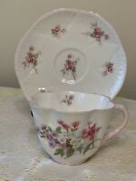 """Shelley Fine Bone China Cup & Saucer~""""Stocks"""" 13428, 13545~Made in England"""