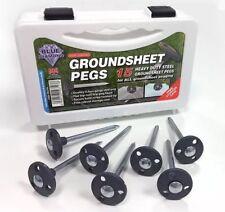 Blue Diamond 15 x Heavy Duty Steel Groundsheet Pegs - Awning tent