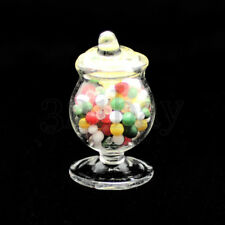 Miniature Candy Jar Glass Bowls Dollhouse Glassware Miniature 1:12 Scale Candies