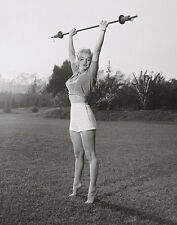 Marilyn Workin It Monroe Photo Art Print Weightlifting Training Gym Poster 22x28