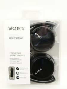 Sony Headphones With Mic & Voice Command  (Black) MDR-ZX310AP Brand New
