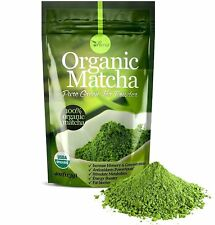 Organic Matcha Green Tea Powder Unsweetened 100% Natural Culinary Grade Starter