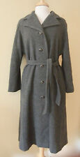 Vtg ~ BRODY Gray WOOL Belted LONG COAT Union Made USA ~ 10/12