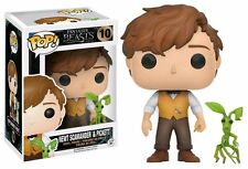 "EXCLUSIVE FANTASTIC BEASTS NEWT SCAMANDER & PICKET 3.75"" POP VINYL FIGURE FUNKO"