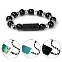 Cable Bracelet Wristband Charger Charging Data Cord For Cell Phone 2 in 1 USB
